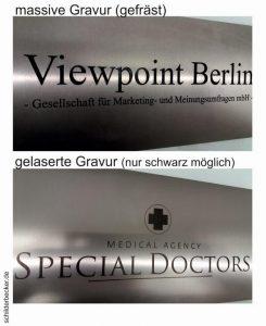 Gravierte Schilder Berlin