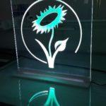 Acrylglasschild Gravur - Beleuchtet